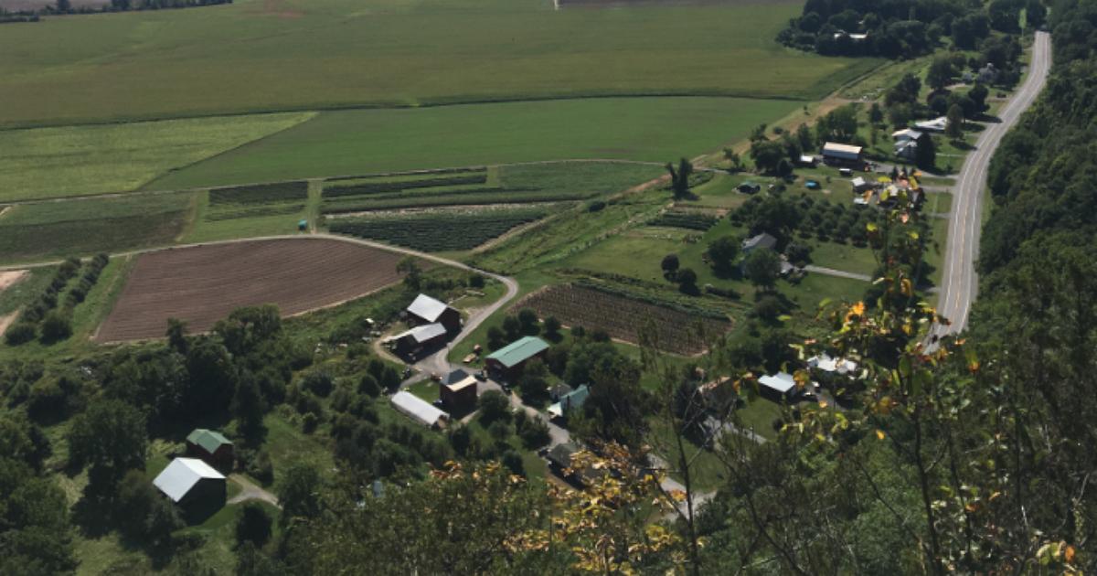the Schoharie hills