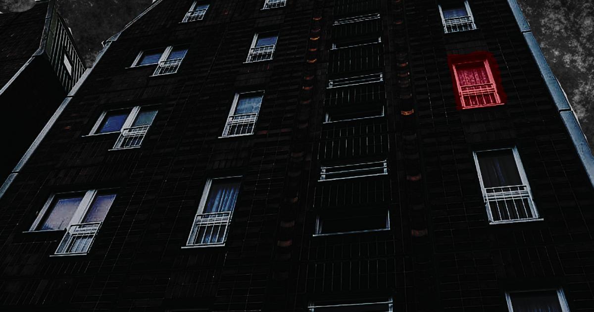 Apartment Windows Exterior At Night